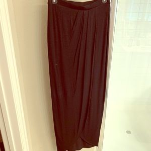 Never worn! Tart XS rouched top, open slit maxi